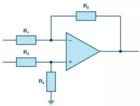 电阻的选择将决定差分放大器的共模抑制比