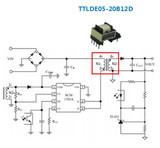 适用于5W以下的AC/DC汽车级隔离直插式变压器 ——TTLDE05-20B-D系列