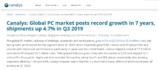 全球PC市场创7年来新高,但<font color='red'>苹果市</font>场份额减小