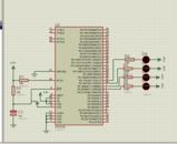LPC2124流水灯及闪烁灯proteus仿真和源码
