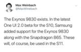 三星Galaxy S11:搭载了骁龙865,支持5G网络