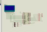 LCD12864简单菜单程序,八个按键带proteus仿真和程序