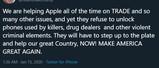 美总统用iPhone呼吁:苹果应帮助当局解锁手机