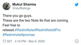 Redmi Note 9系列中有一款Redmi Note 9 Pro Max