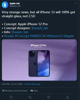 <font color='red'>iPhone</font> 12系列消息显示:所有型号均采用平面玻璃设计