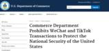 美商务部最早本周日禁止美国区域应用商店分发TikTok和<font color='red'>微信</font>