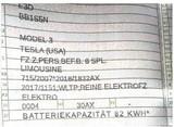 新款Model 3电池参数曝光 能量密度提升至82kWh
