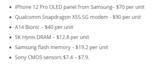 iPhone <font color='red'>12</font> Pro最贵元件是高通X55基带:两颗A14处理器比不上