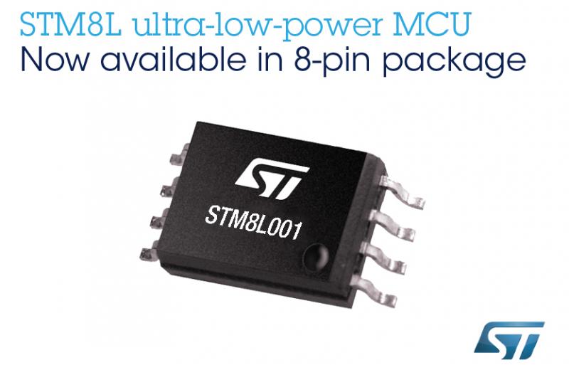 STM8L001 將會滿足智能設備的基本開發要求