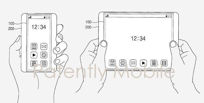 手機金箍棒誕生!三星公布全新屏幕專利