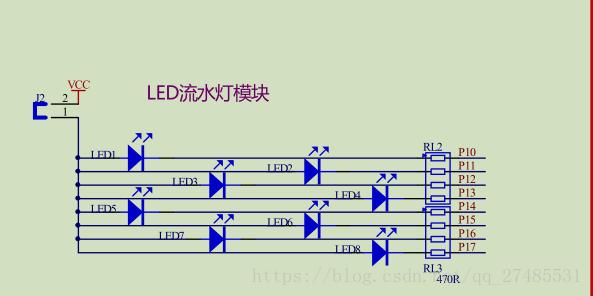 89c51单片机流水灯操作