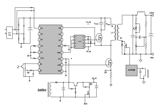 安森美NCP51530驱动器,实现超高功率密度