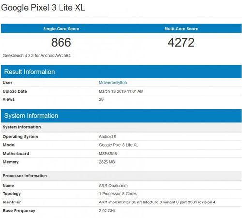 谷歌Pixel 3 Lite XL要搭载骁龙625