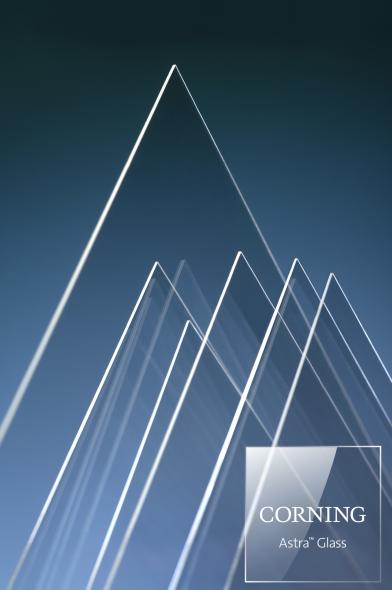 康寧公司推出新型玻璃基板 Corning? Astra? Glass