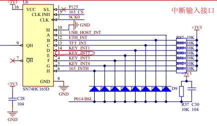 arm7 力天电子lpc2148 GPIO之按键输入试验