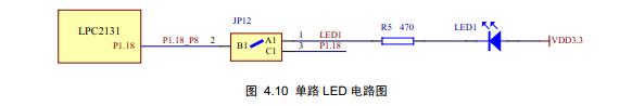 arm7 力天电子lpc2148 GPIO之二单路LED控制实验