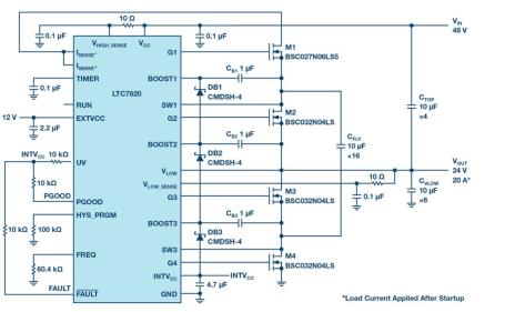高功率應用的高電壓、高功率開關電容電源控制芯片