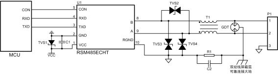 RS-485保護電路結電容對信号質量的影響