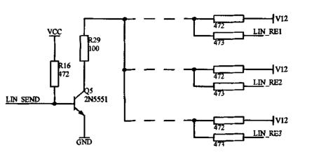 图三:车窗LIN总线应用电路
