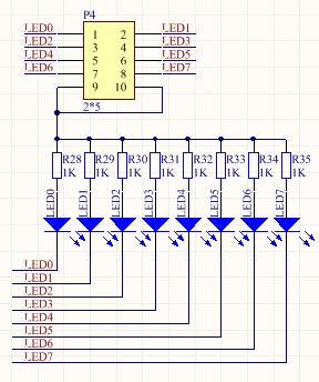 AVRWARE++开发笔记6:8路直接I/O口控制LED灯实验