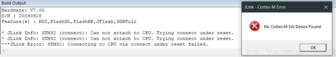 STM32下一次程序后J-link不能识别问题解决