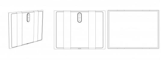 小米可折叠手机设计专利采用后置三摄方案