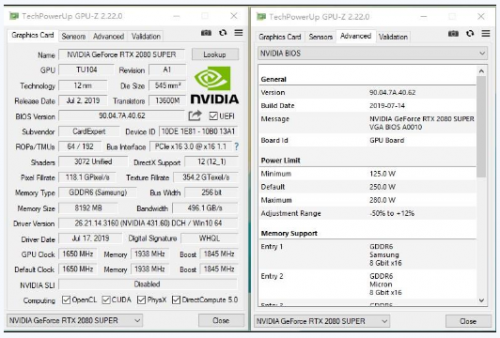 耕升G魂RTX 2080 Super OC性能不输公版,噪音和功耗更优