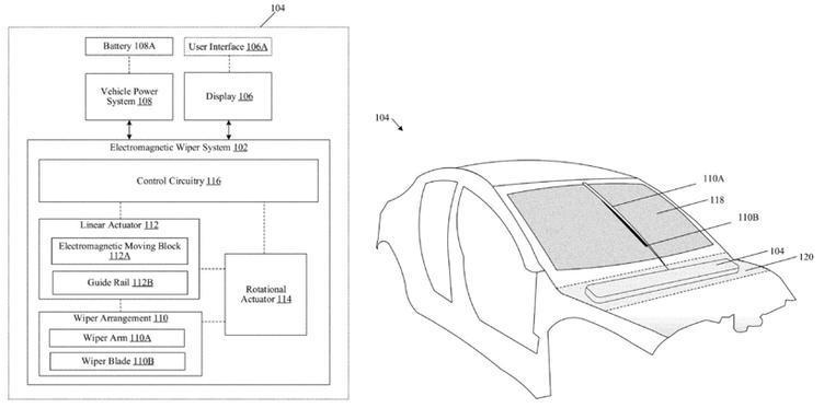 特斯拉新专利:保证挡风玻璃干干净净 推电磁雨刮器系统