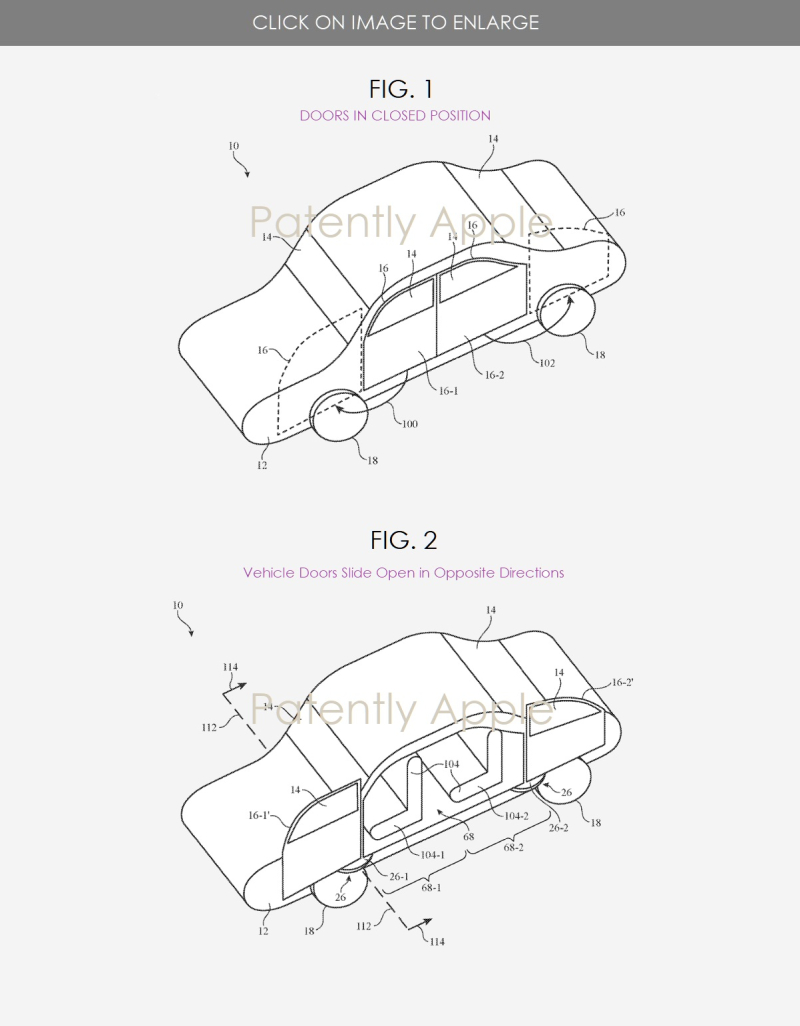 黑科技,前瞻技术,自动驾驶,苹果泰坦项目专利,苹果车门专利,苹果自适应定位车门,苹果专利,汽车新技术