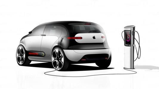 苹果的新专利可让电动汽车进行自动充电