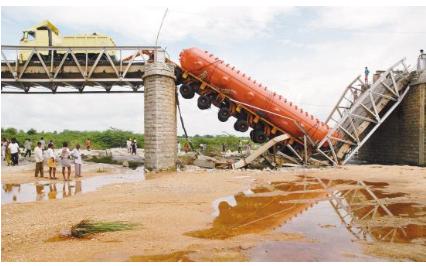 称重传感器用于避免公路桥梁发生车辆超重坍塌事故