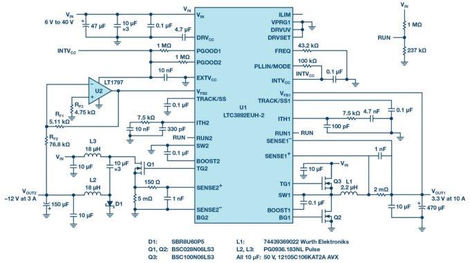 技术文章—采用降压型控制器产生负电压