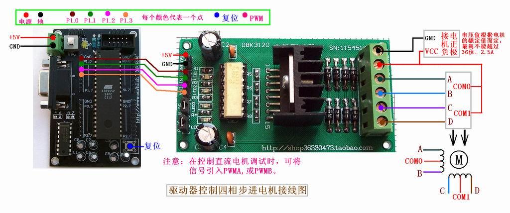 驱动器控制四相步进电机接线图.jpg
