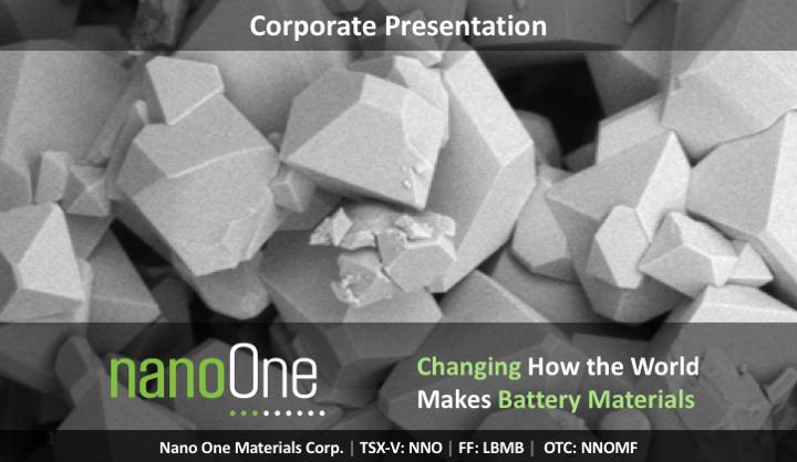 Nano One研发新方法 以低成本制高性能锂电池阴极材料