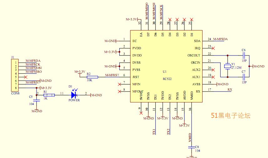 MFRC522上海快三app赚钱—主页-彩经_彩喜欢路原理图与单片机测试程序