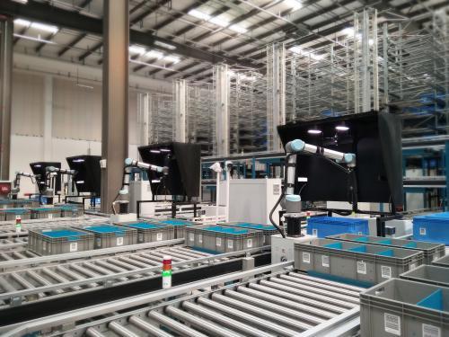 优傲协作机器人3D智能分拣系统助力快递行业