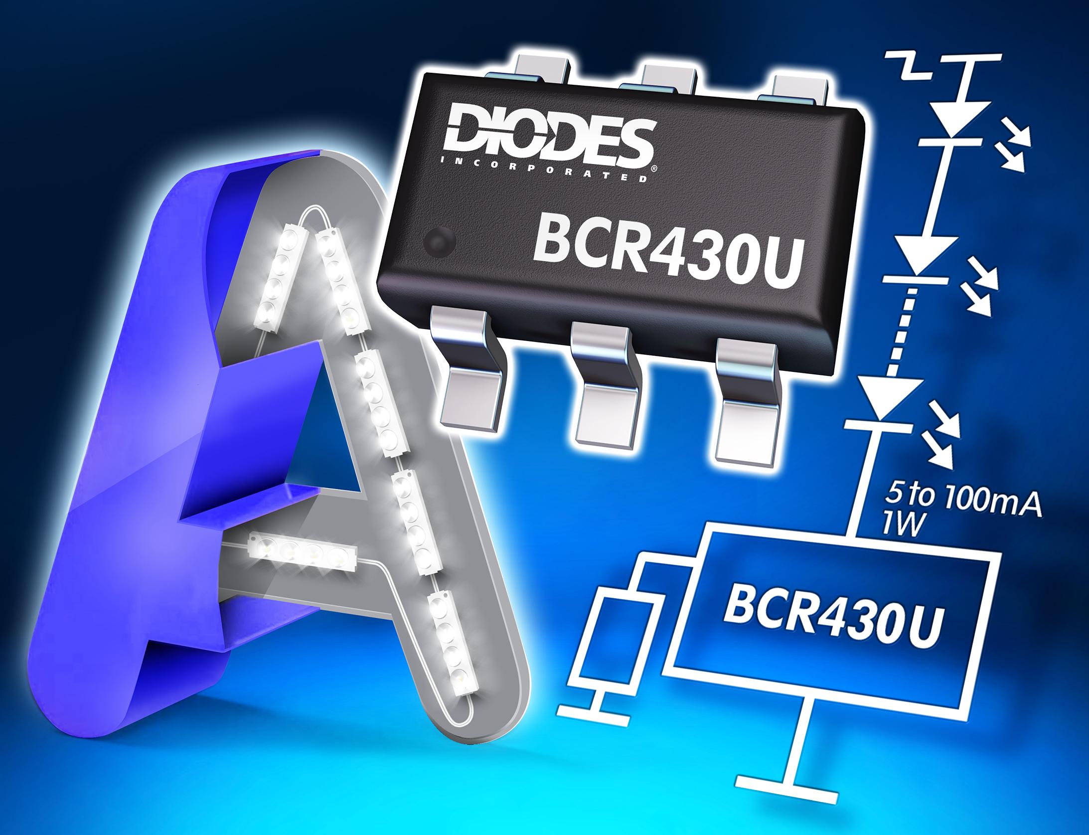 Diodes 超低压降线性 LED 驱动器可提供卓越的系统效率和显示