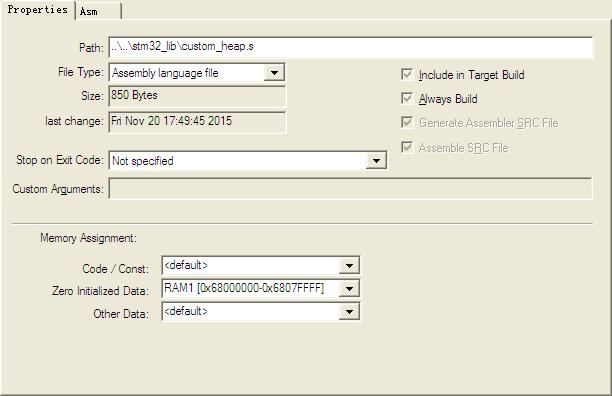 STM32栈和堆使用不同RAM的实现方法