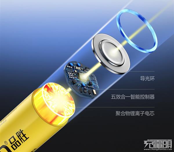 颠覆传统:品胜推出1.5V可充电AA 5号锂电池