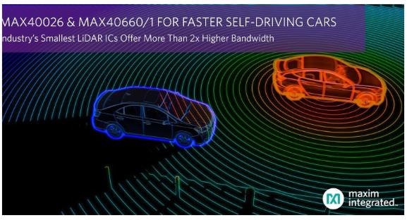 美信推出小型激光雷达IC 可将自动驾驶时速提高15公里