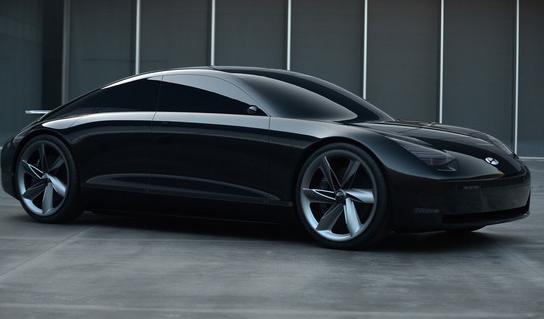现代推出了一款使用操纵杆来操控的概念电动汽车Prophecy