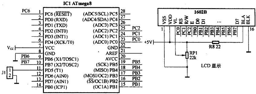实验板上与数字频率计有关的电路