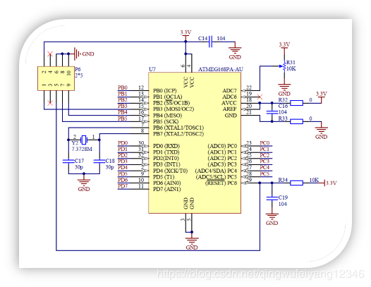 任务6:认知ATmega168PA最小工作系统