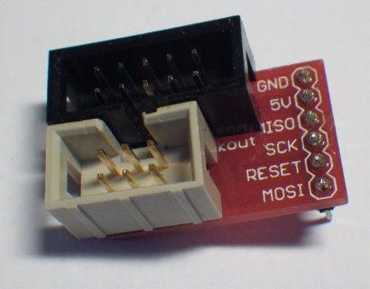 AVR ISP面包板适配器的制作