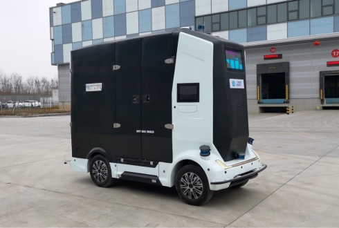 Self-driving delivery vehicle developed by Unity Drive Innovation (UDI)