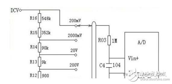 万用表测量电压原理