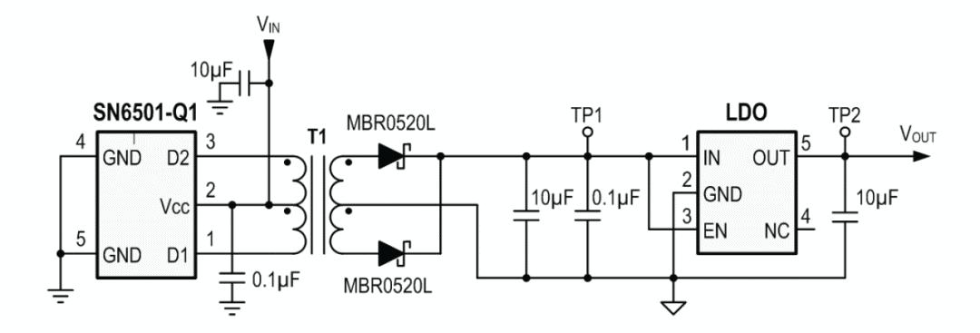 图3:具有稳定输出的隔离式电源的简易电路