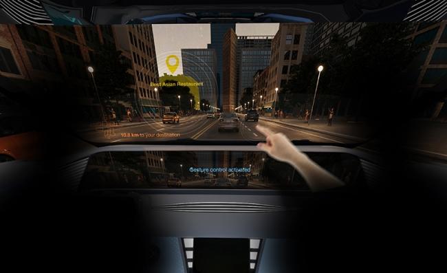 直观互动:欧司朗超紧凑型红外 LED 成就汽车内部手势控制