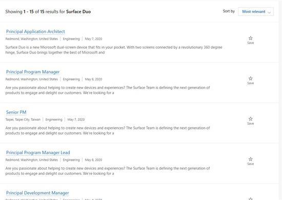 微软招聘16名工程师,加快完成Surface Duo开发
