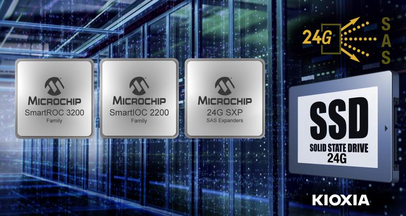 Microchip联手KIOXIA America完成24G SAS端到端存储互操作性测试
